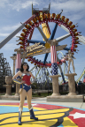 Wonder Woman welcomes guests during Memorial Day Weekend as the all new Wonder Woman Lasso of Truth opens at Six Flags Discovery Kingdom. (Photo: Business Wire)