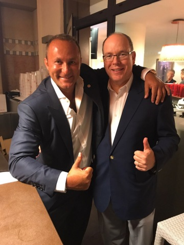 Dr. Andy Khawaja and Prince Albert II of Monaco at World Stars Charity Event 2017. (Photo: Business Wire)