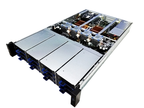 FlacheSAN2N12C-D5 12x NVMe PCIe3 x8 Flash Array (Photo: Business Wire)