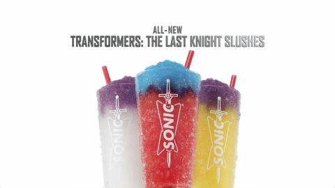SONIC Welcomes Trio of Slushes in Tie-in Campaign with New Movie, Transformers: The Last Knight, Directed by Michael Bay (Photo: Business Wire)