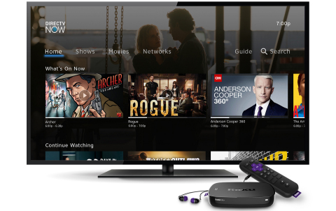 DIRECTV NOW on Roku (Photo: Business Wire)
