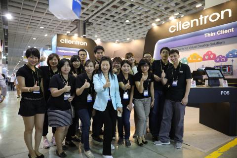 公信电子总经理表示: 公信电子于2017台北国际电脑展中,提供一系列可应用于各行各业的创新与高质量瘦終端与POS端点销售系统。(照片:美国商业资讯)