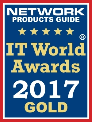 Network Products Guide, a leading technology research and advisory guide, has named Ixia CMO Marie Hattar, Ixia Vision ONE™, and Ixia Developer™ Gold winners in the 12th Annual 2017 IT World Awards® in the categories of Executive of the Year, Security Software, and Network Intelligence, respectively. (Graphic: Business Wire)