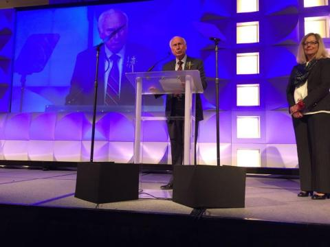Co-founder and Chairman Ray Stata Accepts IEEE Award Recognizing Analog Devices for Innovation and Industry Leadership (Photo: Business Wire)