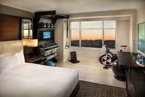 Hilton created a new room with a fully integrated fitness experience. (Photo: Business Wire)