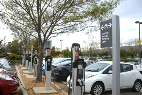 ChargePoint charging spots in San Jose, Calif. Photo provided by ChargePoint