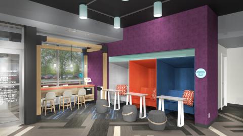 私密的嵌入式壁龕,做過吸音處理,配有電源插座和寬敞的空間,提供專屬的工作場地。(照片:美國商業資訊)