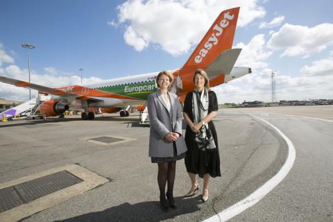 Caroline Parot Présidente du Directoire du Groupe Europcar and Carolyn McCall PDG d'easyJet (Photo: Europcar)