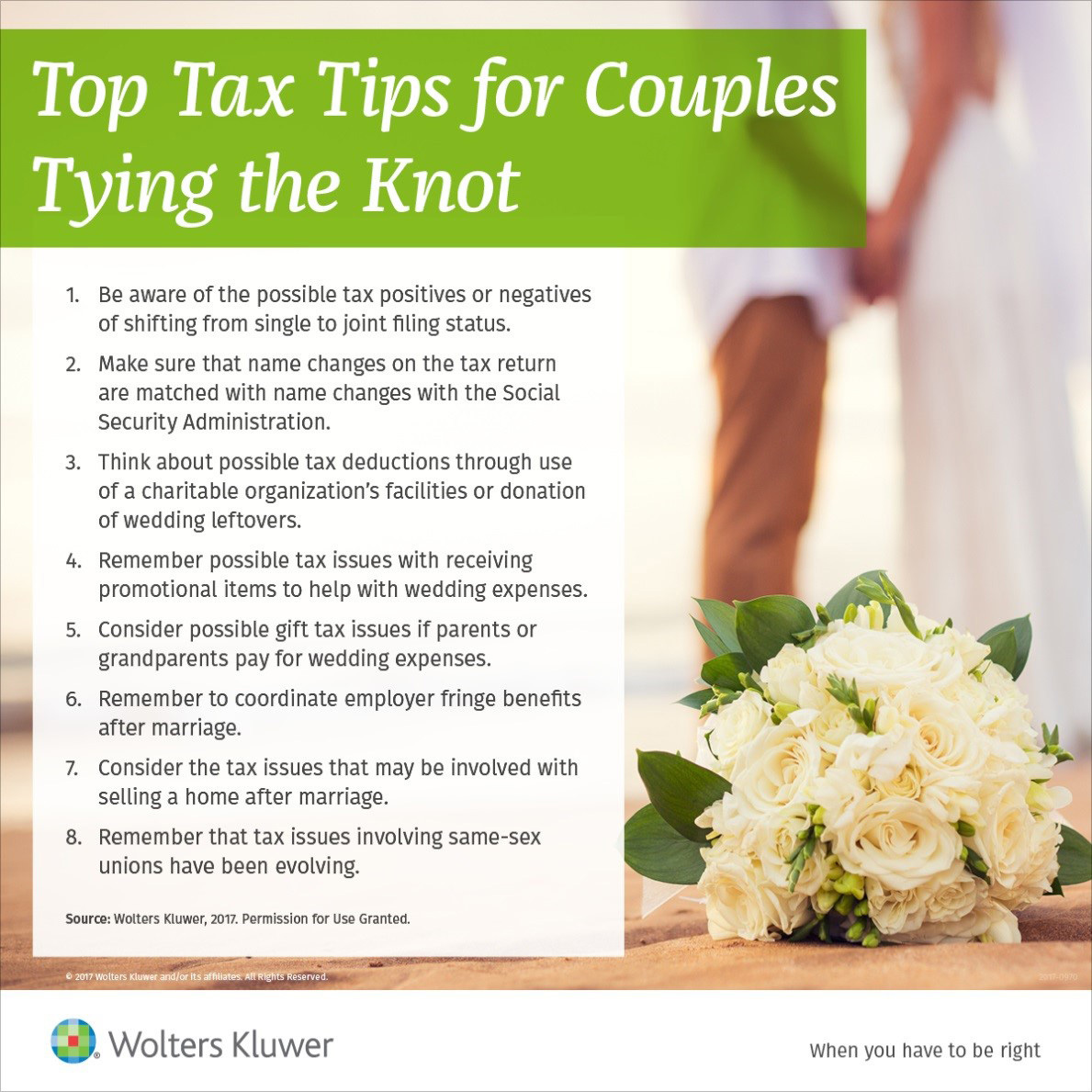 Top Tax Tips for Couples Tying the Knot from Wolters Kluwer (Graphic: Business Wire)