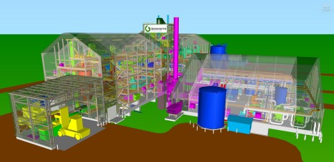 *Figure 1: 3D Model of the Gensource Small Scale Potash Facility (Graphic: Business Wire)