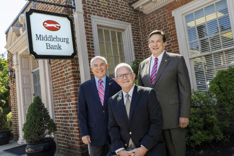 Joe Boling, former Chair of Middleburg Financial Corporation; Arch A. Moore, III; and Gary R. Shook, President of Middleburg Bank, a Division of Access National Bank. (Photo: Business Wire)