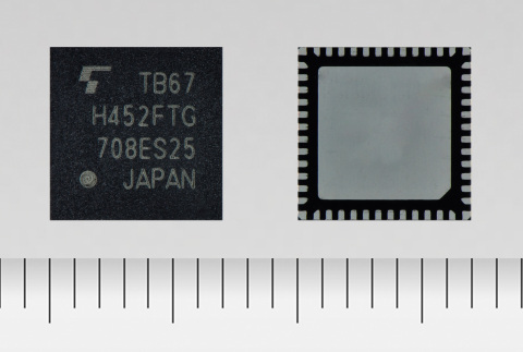 """Toshiba: """"TB67H452FTG,"""" a 4-channel H-bridge motor driver IC offering a high voltage of 40V and current of 3.5A. (Photo: Business Wire)"""
