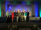 Representatives from METCOM 911, Oregon, accept their award from Tyler Technologies. (Photo: Business Wire)