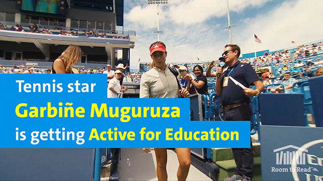 Tennis Star Garbiñe Muguruza is Getting Active for Education