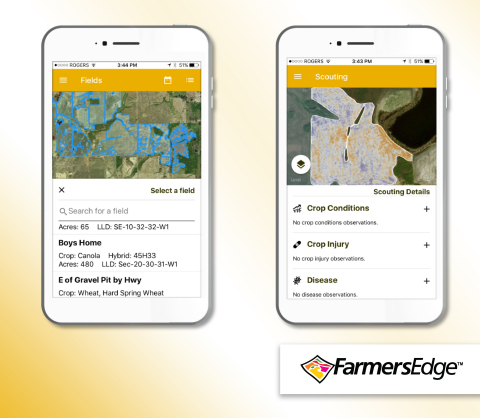 FarmCommand™ Scouting integrates multiple data layers and unique scouting maps that allow growers to identify issues in the field earlier than ever before. (Graphic: Business Wire)