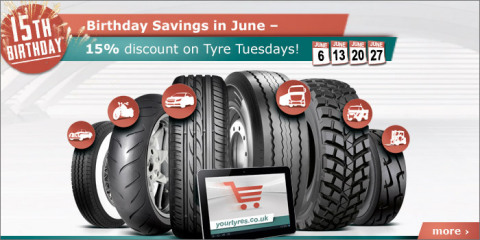 Yourtyres.co.uk celebrates its 15th anniversary (Photo: Business Wire)