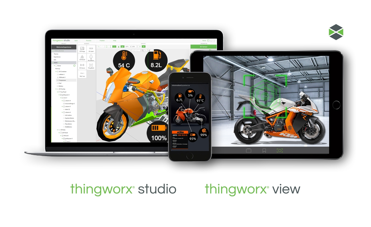 PTC launched a new ThingWorx Studio augmented reality (AR) free trial program for the Industrial Internet of Things (IoT). The program enables companies to leverage the ThingWorx® Studio AR authoring and publishing tool to rapidly prototype and develop AR experiences that can bring new value to their businesses. (Photo: Business Wire)