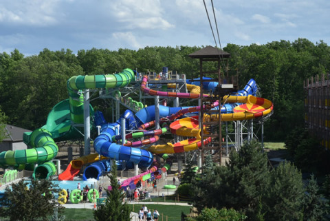 Now open, Kalahari Resorts and Conventions in Sandusky, Ohio added five new slides to the outdoor waterpark. There's something for all levels of adventures seekers. (Photo: Business Wire)