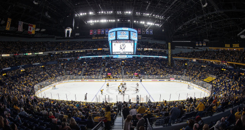Bridgestone Arena in Nashville, Tennessee, upgraded its lighting with Eaton's LED system technology to improve the lighting performance, enable more sophisticated productions and save on operating costs. The venue, which is hosting the NHL's Stanley Cup Final, is one of 12 hockey arenas in the NHL and AHL equipped with Eaton's Ephesus advanced LED sports lighting and controls system. (Photo: John Russell)