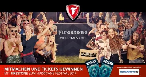 Mit ReifenDirekt.de und Firestone zum Hurricane Festival (Graphic: Business Wire)
