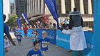 More than 160 kids crossed the finish line at the UnitedHealthcare IRONKIDS Raleigh Fun Run today at Raleigh Marriott City Center. UnitedHealthcare mascot Dr. Health E. Hound helped Derek K. Harris Jr. of UnitedHealthcare and state Rep. Duane Hall kick off the fun run. This is the sixth year UnitedHealthcare is sponsoring IRONKIDS races in the United States. (Video credit: Marc Kawanishi)