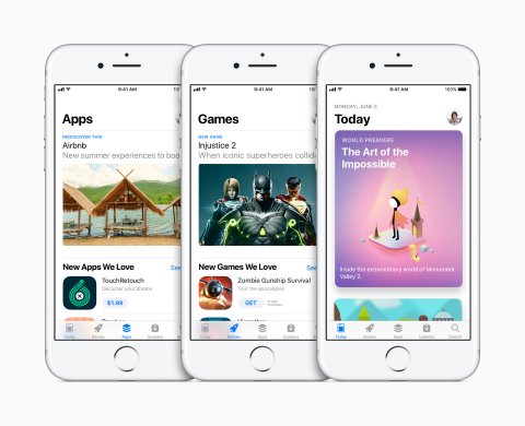 Apple unveils all-new App Store. (Photo: Business Wire)