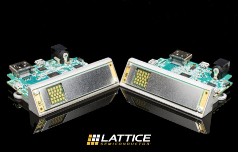Using the MOD6320-T and MOD6321-R wireless video modules based on Lattice's SiBEAM 60 GHz technology and the Sil9396 HDMI 2.0 video bridge device, Lattice is the first to bring to market a 4K wireless video solution that transmits in the 60 GHz band, ensuring robust, low latency video transmission free from interference. (Photo: Business Wire)