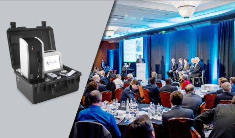 Spectro Scientific announces a joint first place finish with Airbus Helicopters in a vote ranking contestants at the 2017 HeliOffshore Conference. Spectro Scientific presented their Q5800 Expeditionary Fluid Analysis System (EFAS), a 33 pound, battery-operated, man-portable lubrication analysis lab that provides comprehensive results in 10 minutes on a flight line or in a maintenance shop. (Photo: Business Wire)