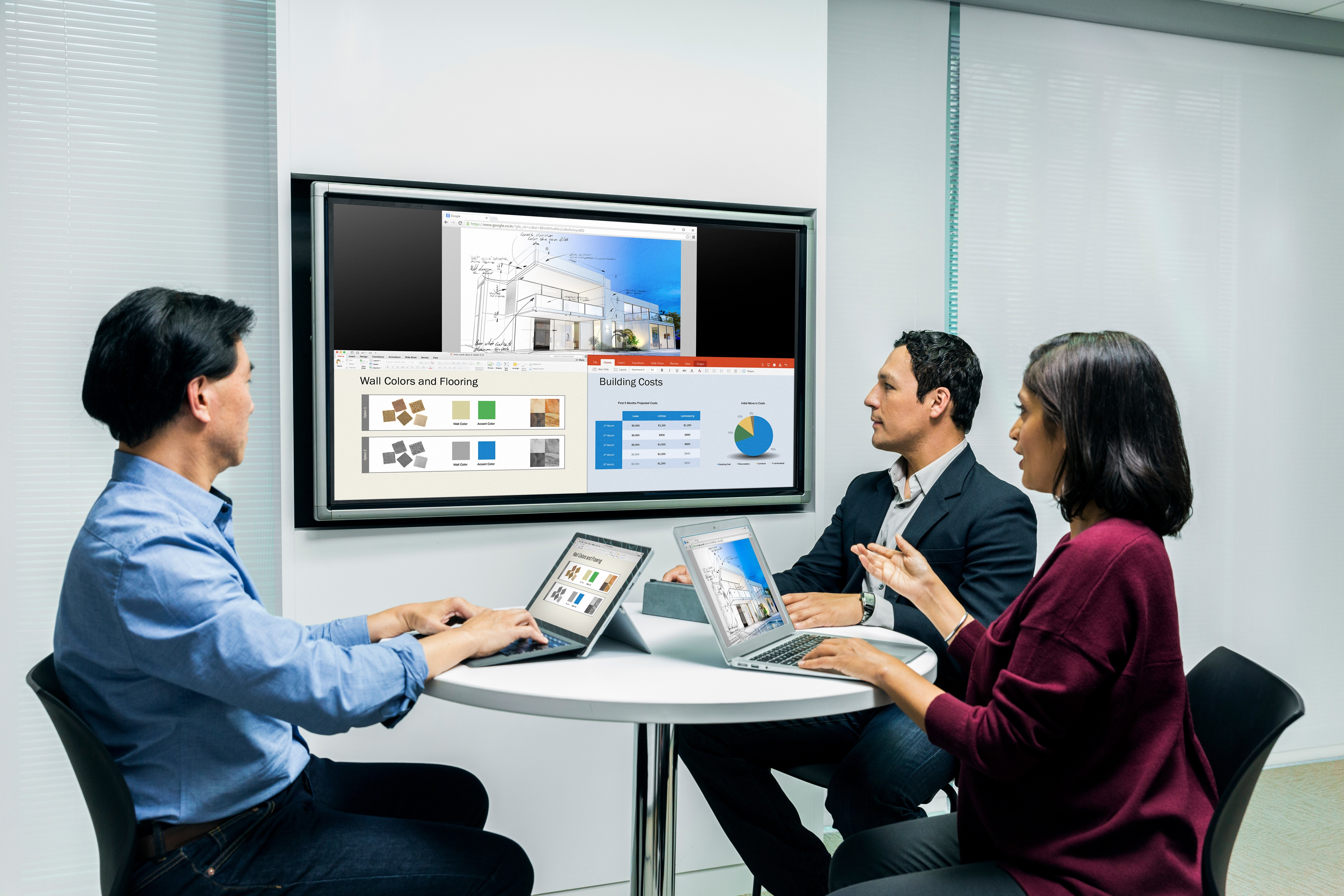 The new Polycom Pano is the easiest way to share content in a business meeting and can share up to four streams of simultaneous content side-by-side, from any device, without the hassle of juggling cables, pucks or dongles. (Photo: Business Wire)
