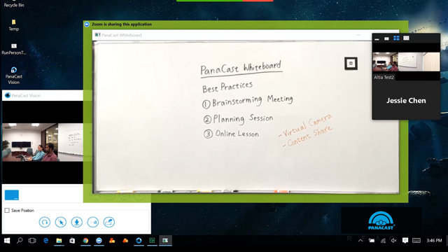 PanaCast Whiteboard demo