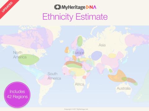 MyHeritage lanserar ny omfattande DNA-analys av etnisk härkomst (Foto: Business Wire)