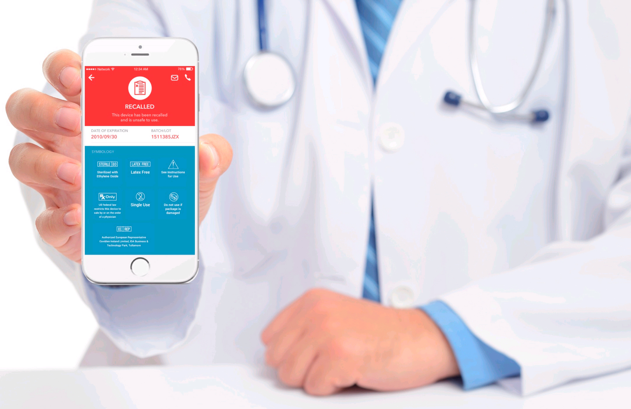 Easy scan with EnCompass App for iOS reveals product and safety information to physicians and patients and solves Master Data Management challenges for medical device industry. (Photo: Business Wire)