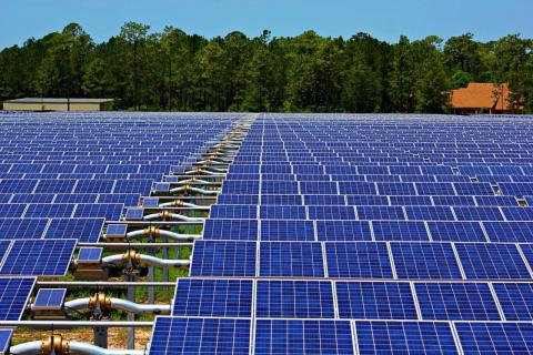 The 7 MWac Northwest Jacksonville Solar Partners solar farm in Jacksonville, Florida. The project will host a dedication event on June 8. (Photo: Business Wire)