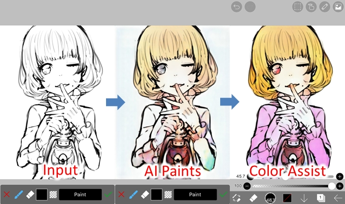 Deep-learning-based auto paint for drawing app ibis Paint (Graphic: Business Wire)
