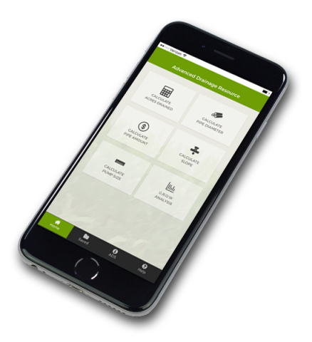The new Agricultural Drainage App from ADS has automatic calculations for planning a system. (Photo: Business Wire)