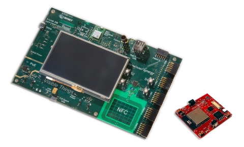 Avnet's Visible Things Industrial IoT development solution with UbiquiOS stack (Photo: Business Wire ...
