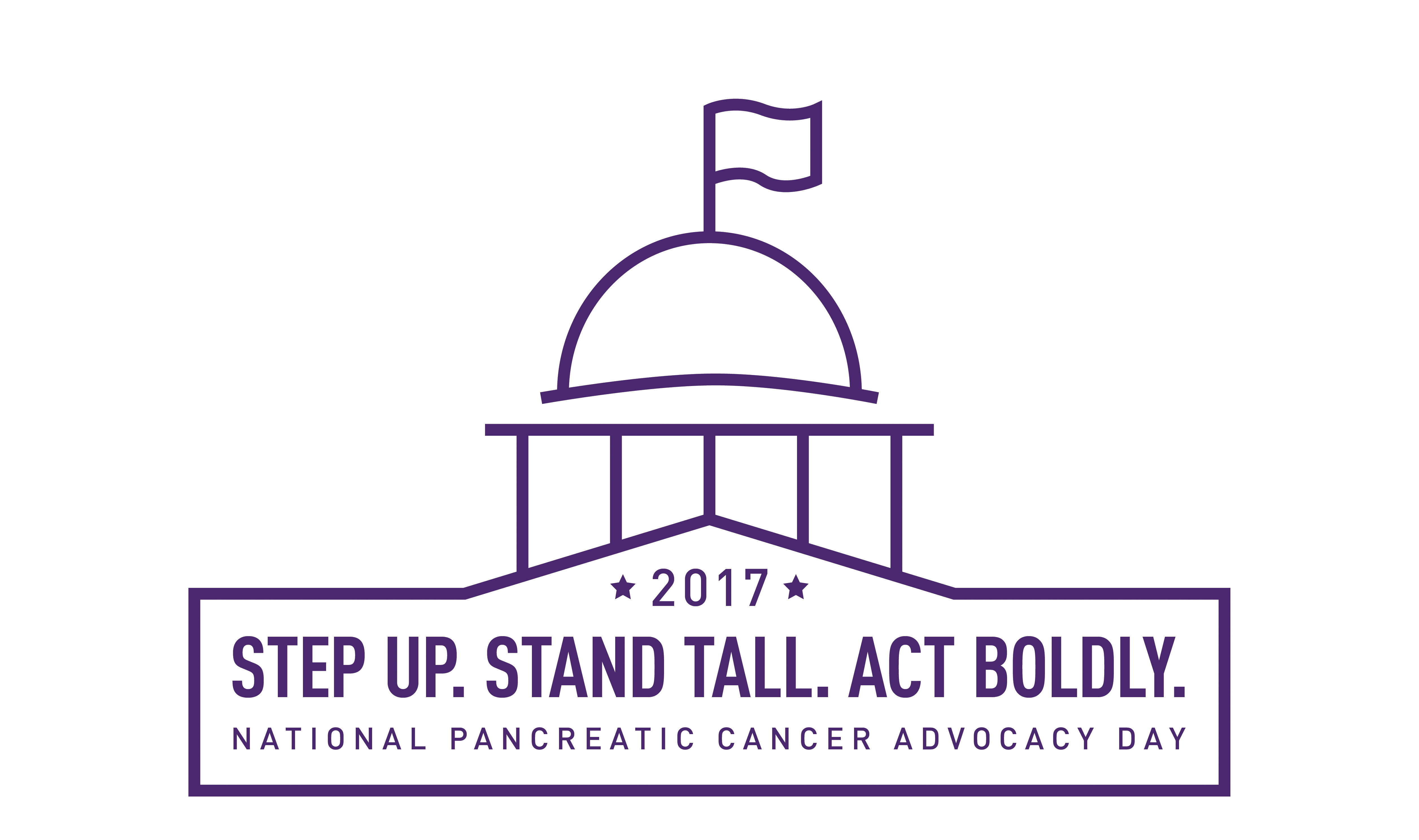 National Pancreatic Cancer Advocacy Day is the largest single gathering of people committed to fighting pancreatic cancer in the country. Step Up. Stand Tall. Act Boldly. June 19-20 in Washington, D.C. www.pancan.org/advocacyday (Graphic: Business Wire)