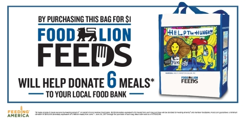 "Food Lion Feeds Launches ""Summers Without Hunger"" Reusable Bag Campaign June 7 (Graphic: Business Wire)"