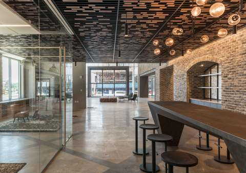 A $3 million renovation to create a hospitality-inspired lobby and amenities has helped to drive over 150,000 square feet of leasing at 80 M Street in Washington, D.C., owned by Columbia Property Trust. (Photo: Business Wire)