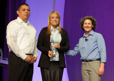 Representatives from the city of Southlake, Texas, receive their Excellence Award from Tyler's CJ McCarron. (Photo: Business Wire)