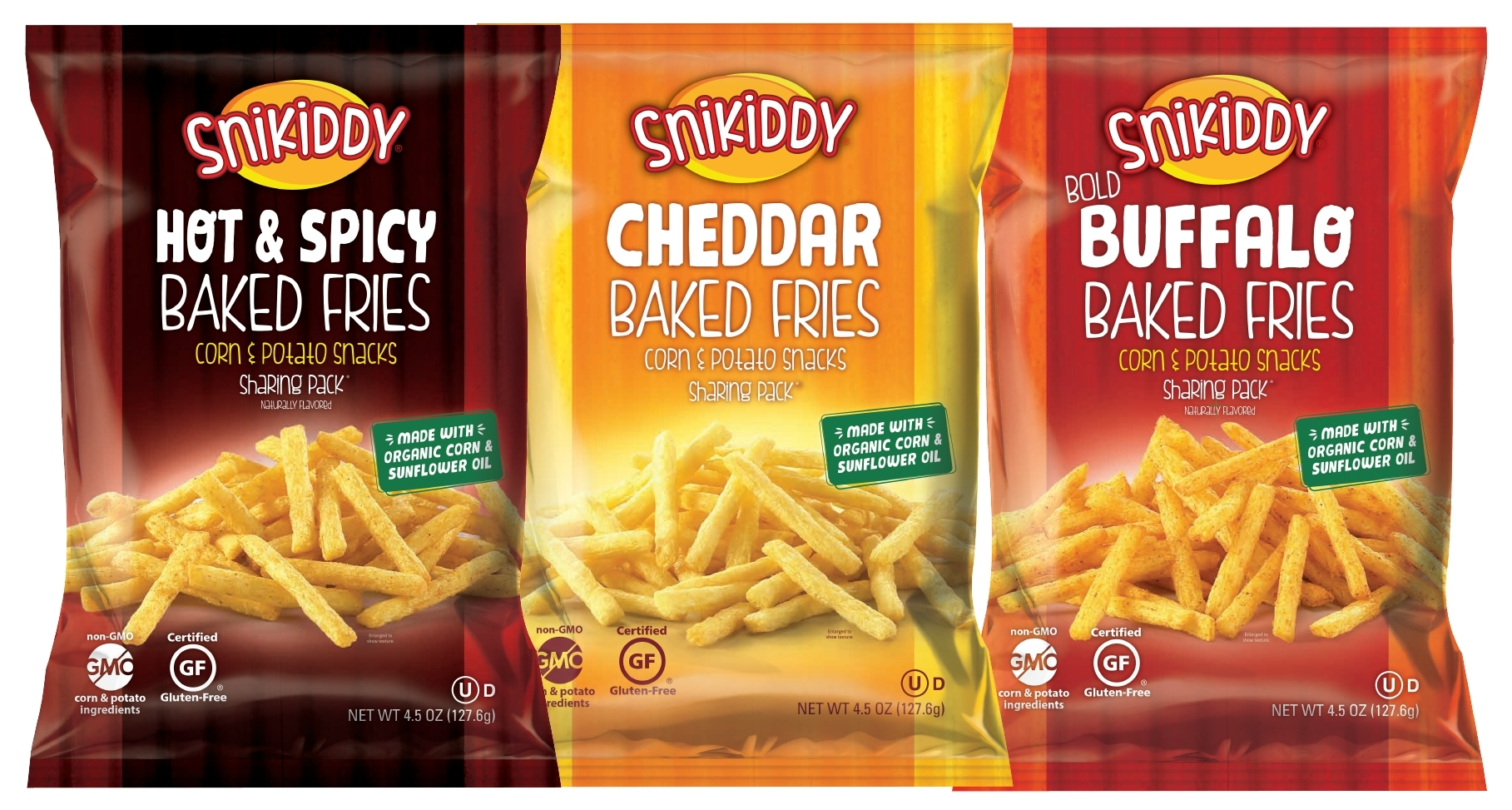 Snikiddy, a line of tasty snacks made from simple, wholesome, real-food ingredients, is revamping its beloved line of Baked Fries to now include 70 percent organic ingredients. (Photo: Business Wire)