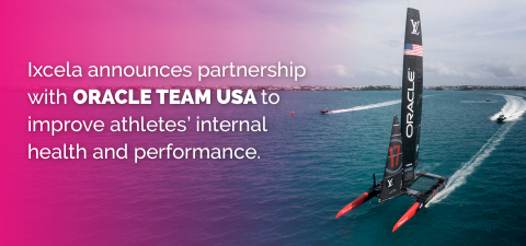 Ixcela Announces Partnership with ORACLE TEAM USA to Improve Athletes' Internal Health and Performance (Graphic: Business Wire)