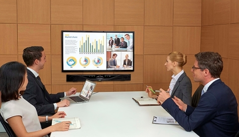 The wide-angle video camera of CS-700 captures all meeting participants (Photo: Business Wire)