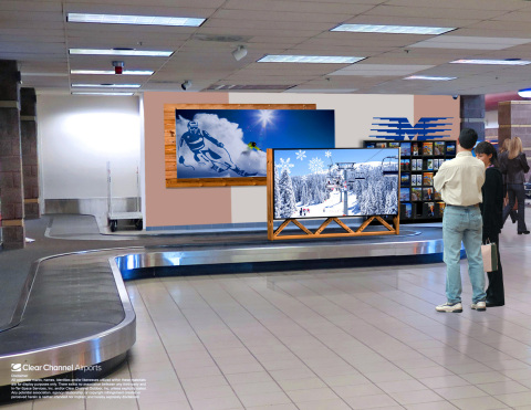 New digital LCD screens in Montrose Regional Airport's baggage claim are part of the Clear Channel Airports five year deal to help brands reach travelers headed to the areas tourist destinations. (Photo: Business Wire)