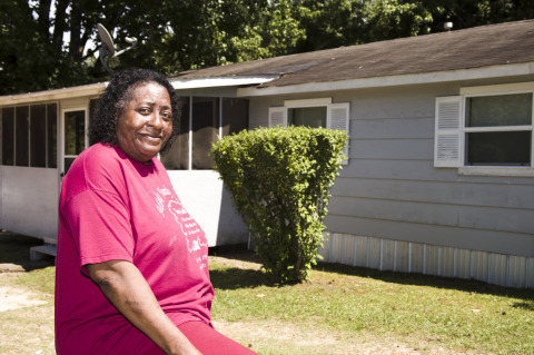 Thanks to nearly $6,000 in Special Needs Assistance Program grant funds from the Federal Home Loan Bank of Dallas and FBT Bank and Mortgage, Sherrie Styles' home was leveled and the windows in her home were replaced. (Photo: Business Wire)