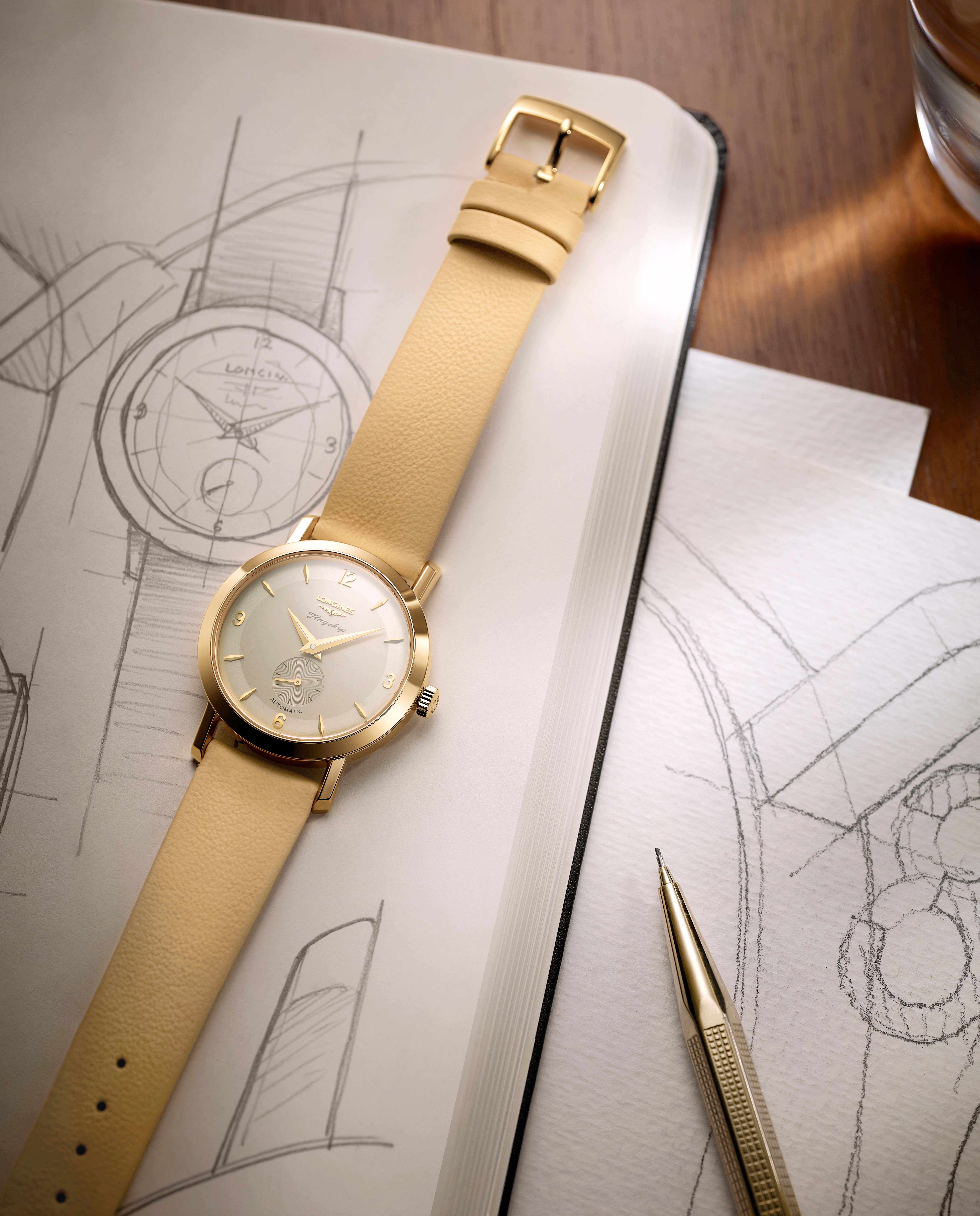 3 models of the Flagship Heritage by Kate Winslet are being auctioned on-line for the benefit of The Golden Hat Foundation co-founded by the British actress. (Photo: Longines)