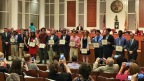 Duval County Comcast Leaders and Achievers Scholarship recipients are recognized during a special ceremony at the Jacksonville City Council meeting on May 23, 2017. (Photo: Business Wire)