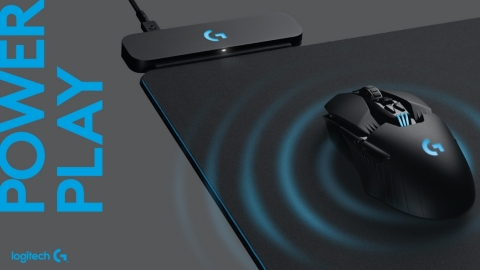 Logitech G POWERPLAY with LIGHTSPEED technology, the world's first wireless charging system for gaming mice, providing continuous play without interruption. (Photo: Business Wire)