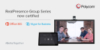 Polycom Group Series is the first and only standards-based video solution to be certified for Microsoft® Skype™ for Business online in Office 365™ (Graphic: Business Wire)