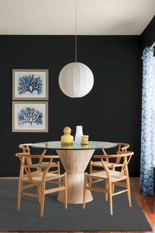 Glidden paints is encouraging consumers to keep easy and authentic in naming Deep Onyx (00NN 07/000), a no-fuss shade of black, as the 2018 Color of the Year. (Photo: Business Wire)